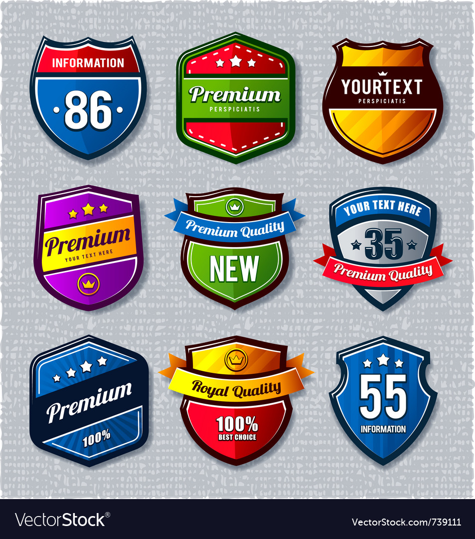 Set of retro badges vector | Price: 3 Credit (USD $3)