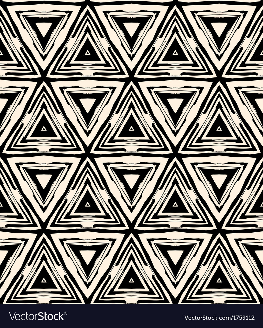1930s art deco geometric pattern with triangles vector | Price: 1 Credit (USD $1)