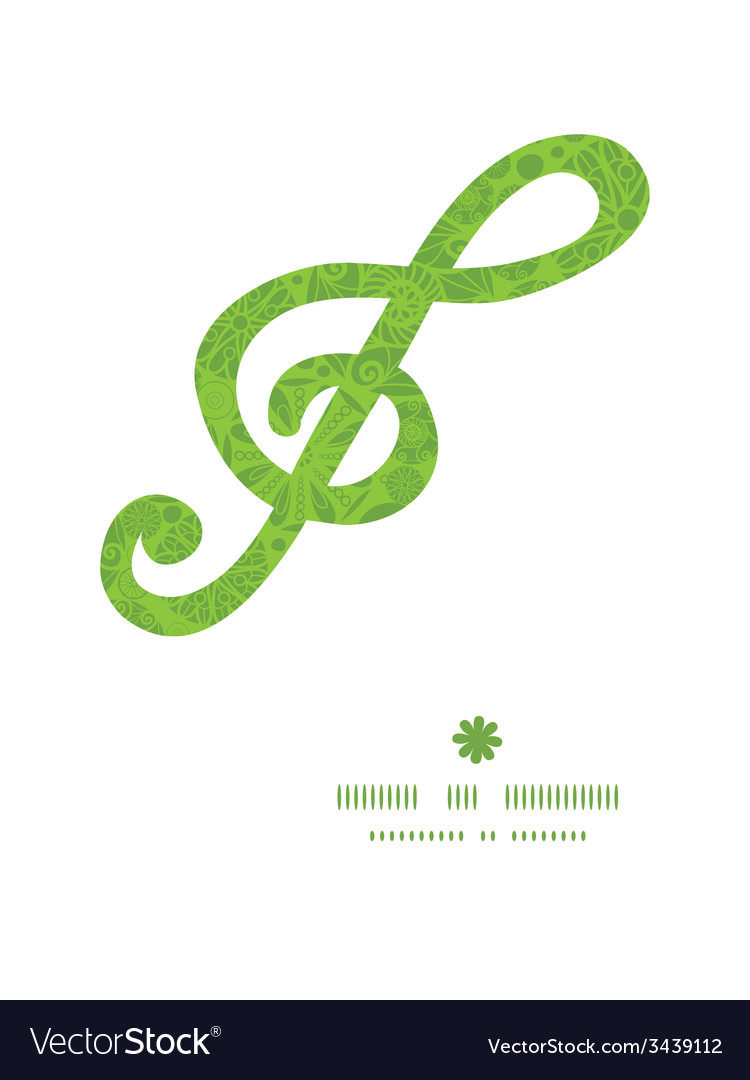 Abstract green and white circles g clef musical vector | Price: 1 Credit (USD $1)