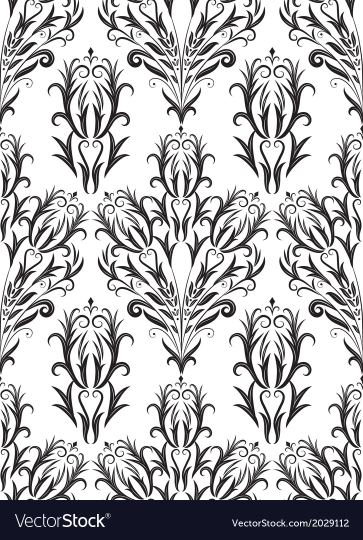 Abstract pattern floral background retro seamles vector   Price: 1 Credit (USD $1)