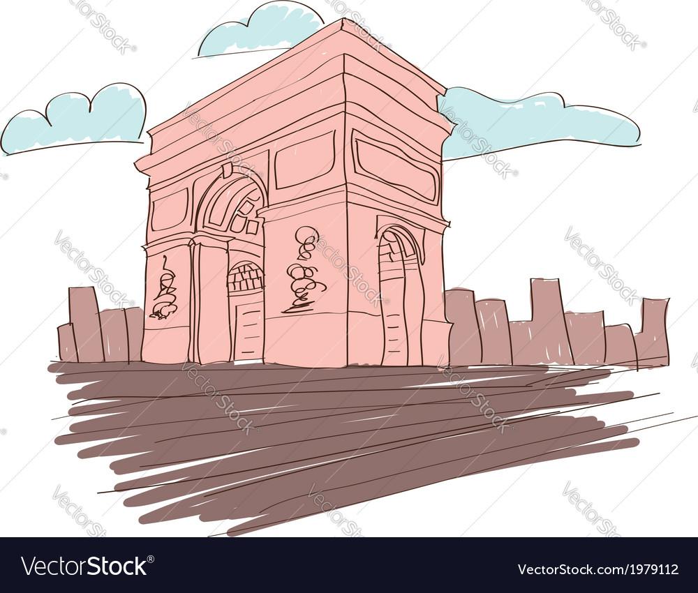 Arc de triomphe - paris vector | Price: 1 Credit (USD $1)