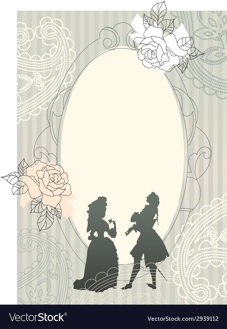 Background with rococo silhouettes vector | Price: 1 Credit (USD $1)