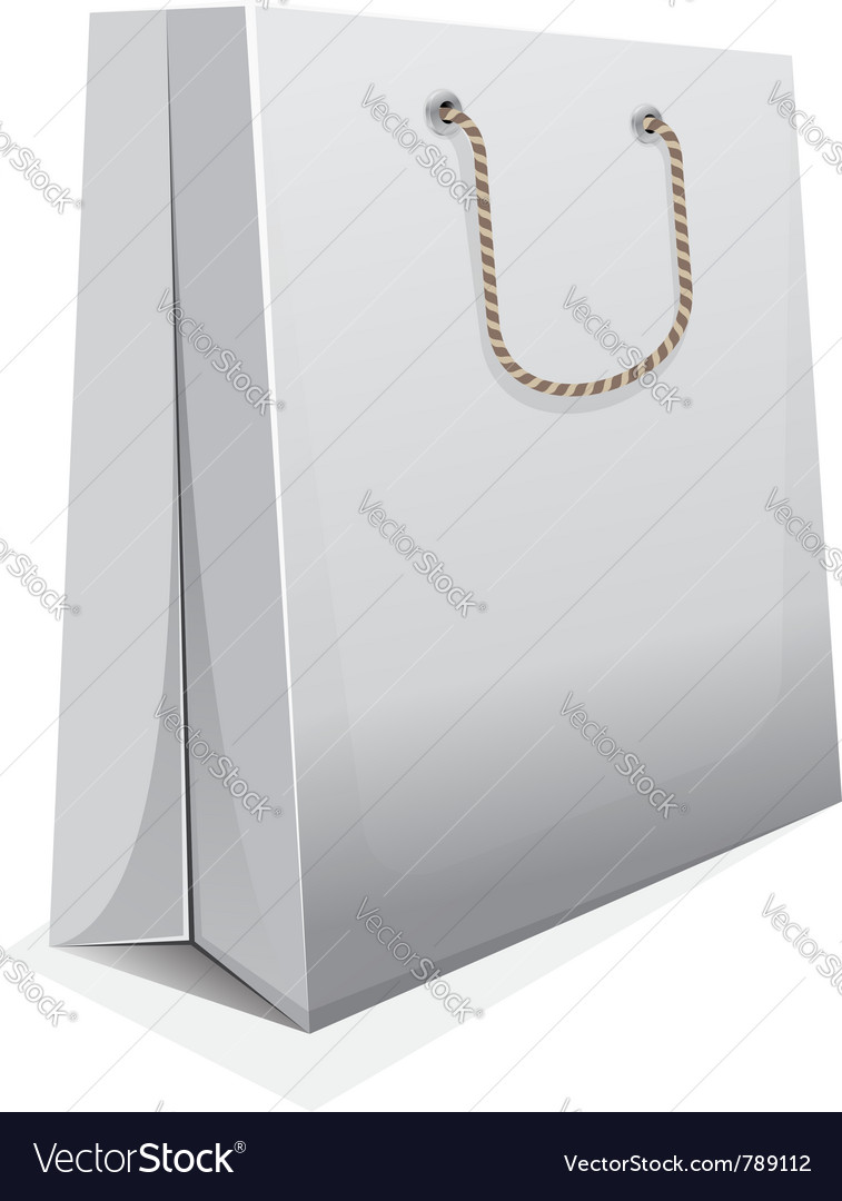 Blank shopping bag vector | Price: 1 Credit (USD $1)