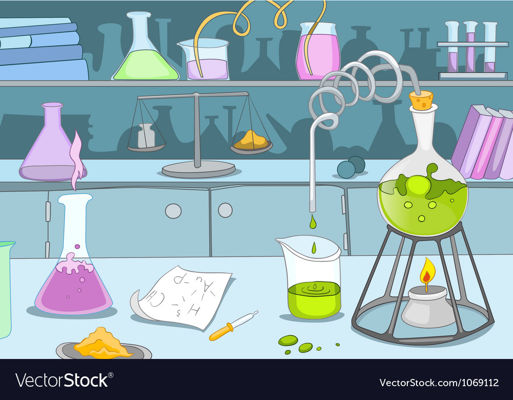 Chemical laboratory vector | Price: 1 Credit (USD $1)