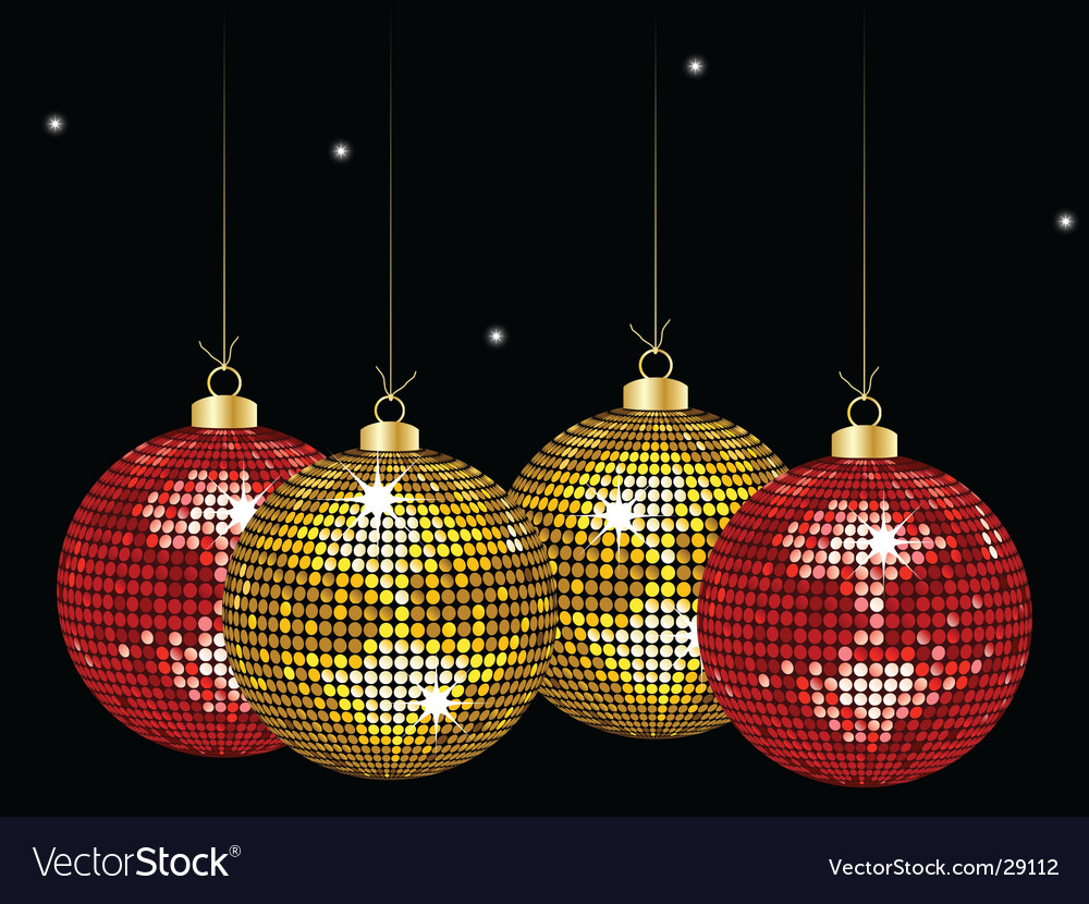 Christmas mirror bauble background vector | Price: 1 Credit (USD $1)