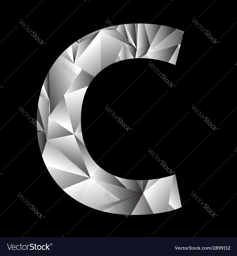 Crystal letter c vector | Price: 1 Credit (USD $1)