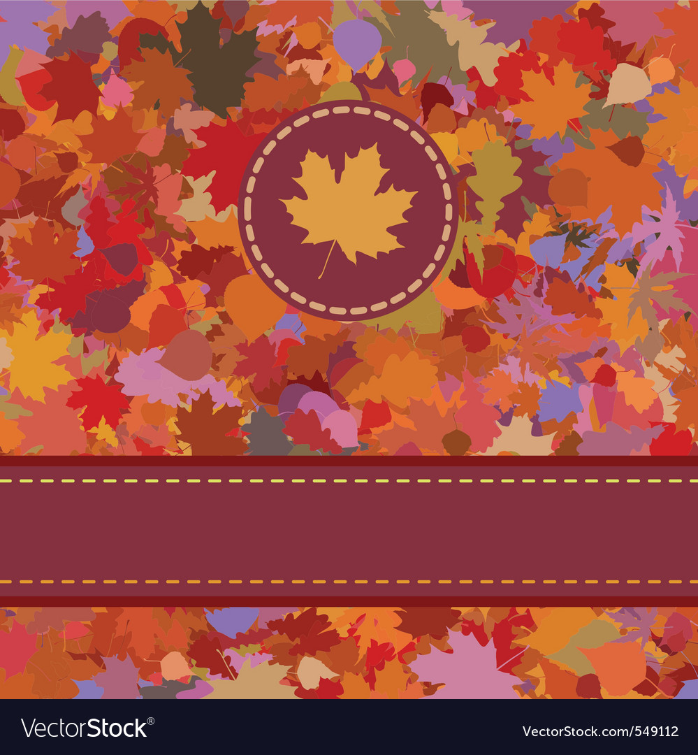 Fallen autumn leaves vector | Price: 1 Credit (USD $1)