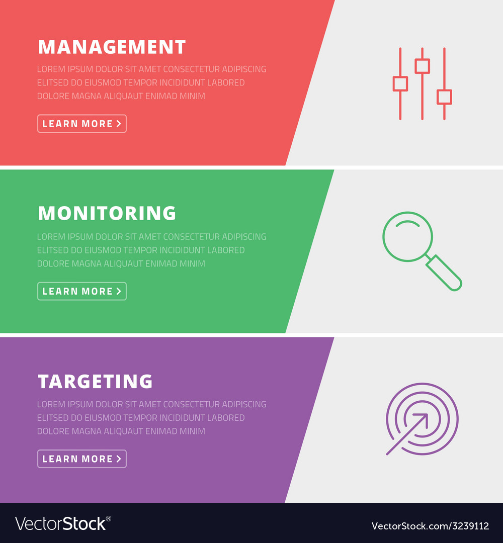 Flat design concept for management monitoring vector | Price: 1 Credit (USD $1)