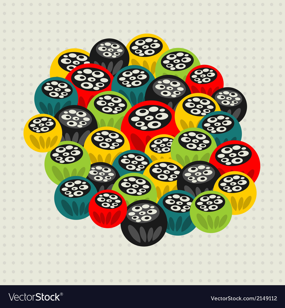 Pattern with strange floral balls vector | Price: 1 Credit (USD $1)