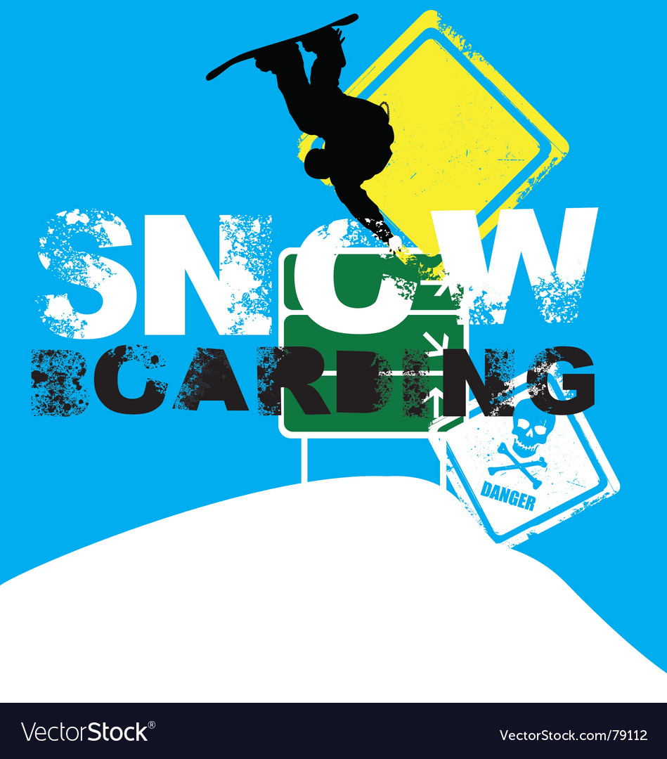 Snowboarder signs vector | Price: 1 Credit (USD $1)