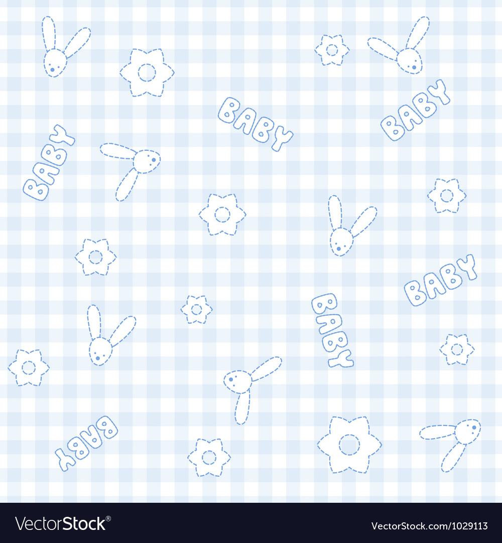 Baby boy bunny pattern vector   Price: 1 Credit (USD $1)