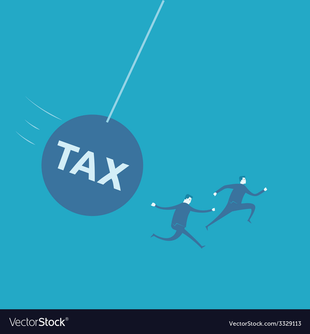 Businessman with huge tax bomb vector | Price: 1 Credit (USD $1)