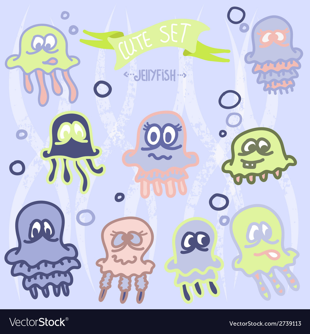 Cute baby jellyfish eps10 vector | Price: 1 Credit (USD $1)
