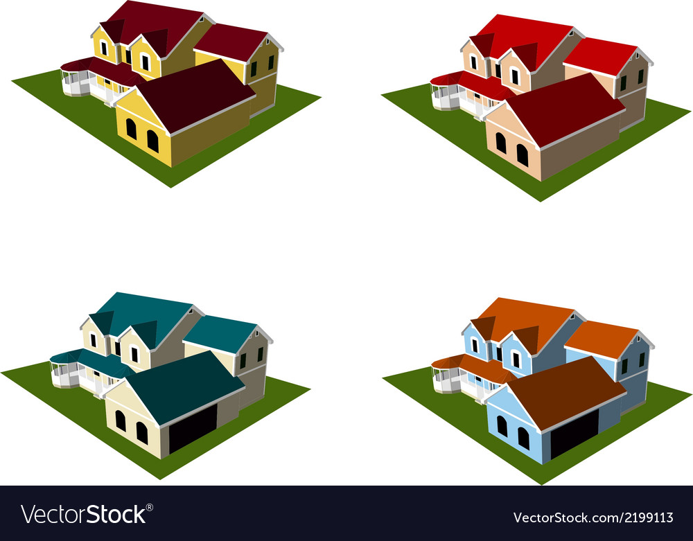 Isometric house style 8 vector | Price: 1 Credit (USD $1)