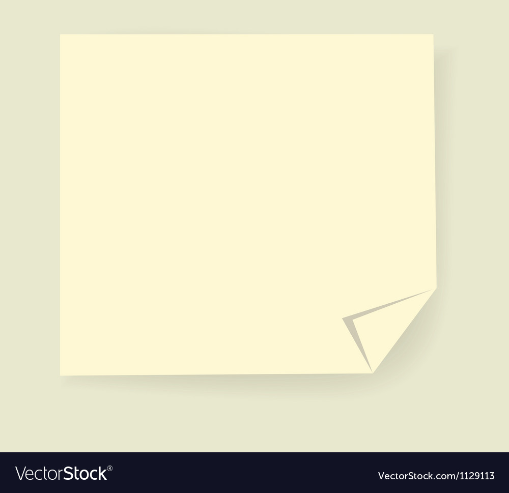Post it paper sticker graphic vector | Price: 1 Credit (USD $1)