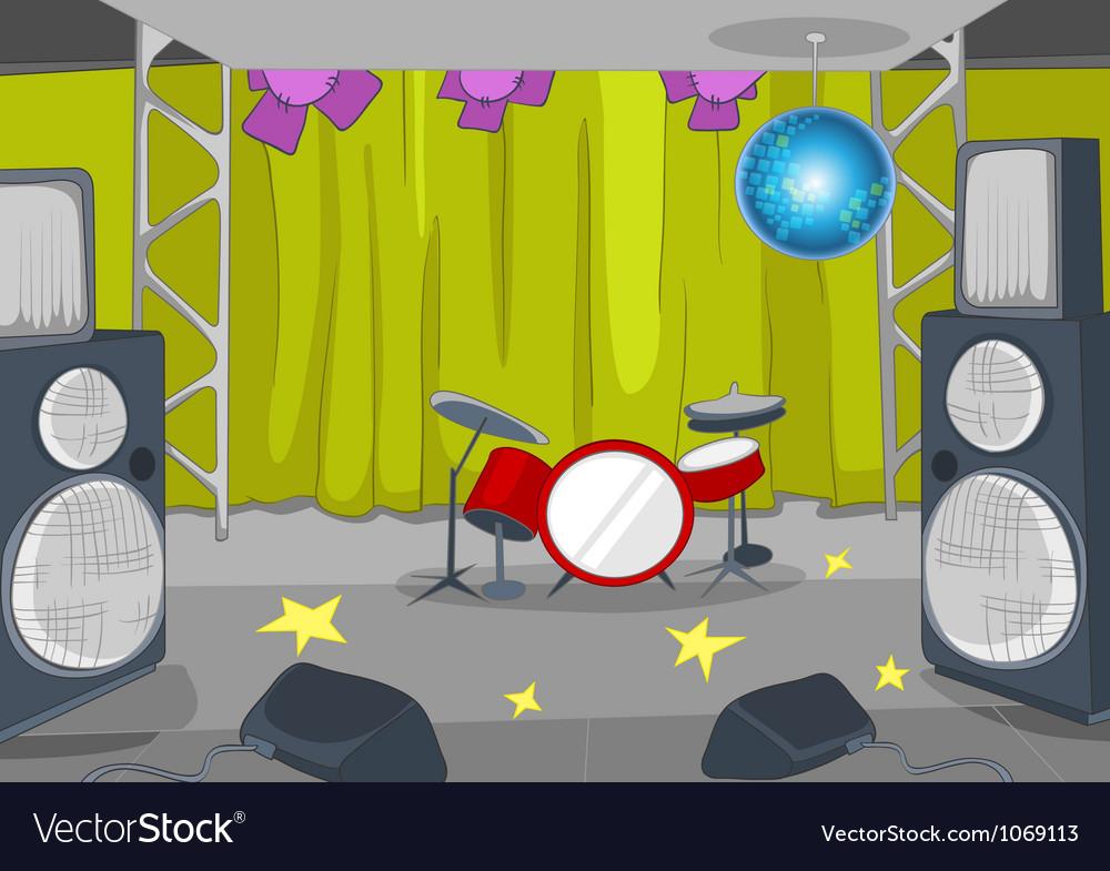 Rockroll stage cartoon vector   Price: 1 Credit (USD $1)