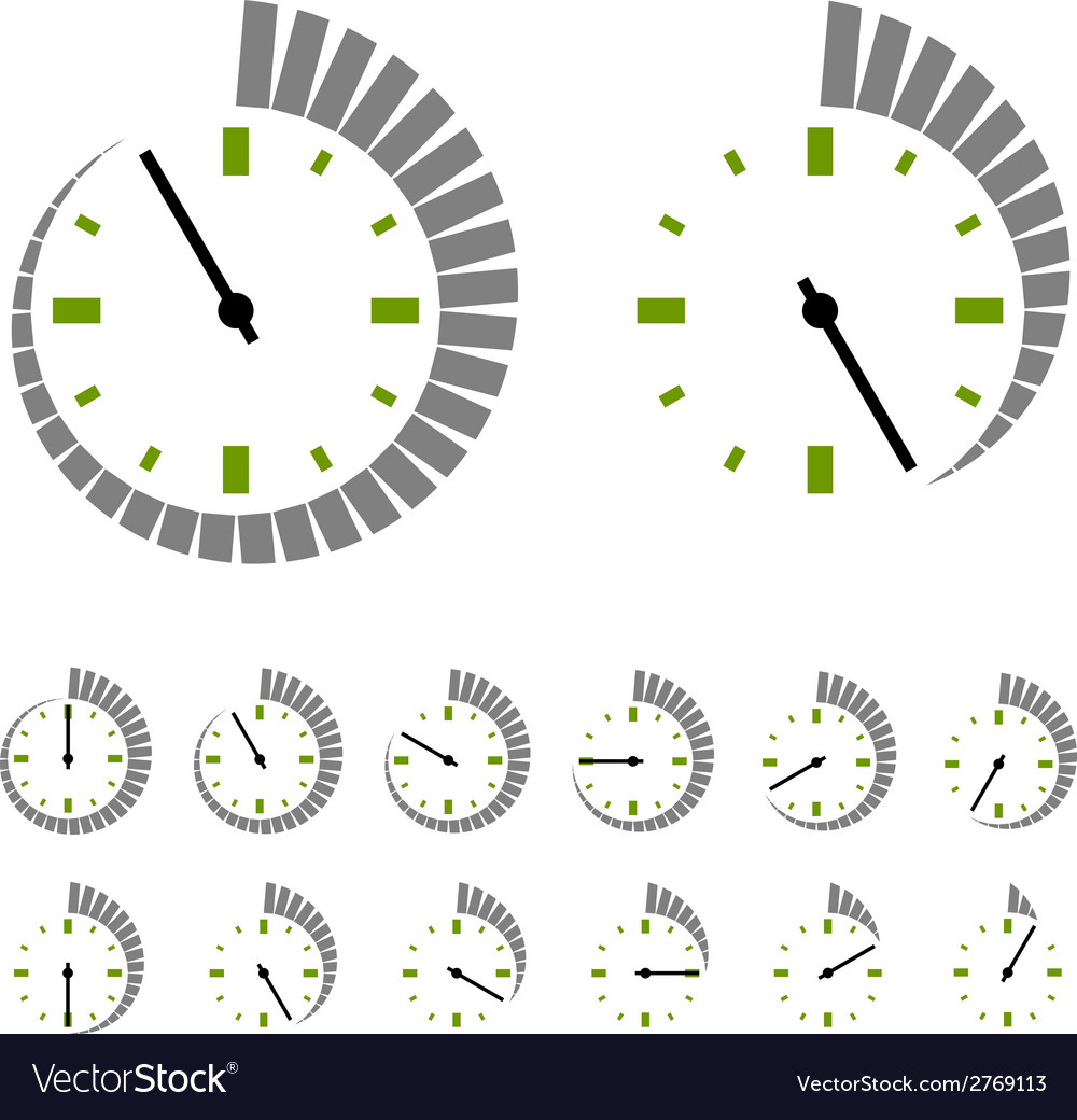 Round timer symbols vector | Price: 1 Credit (USD $1)