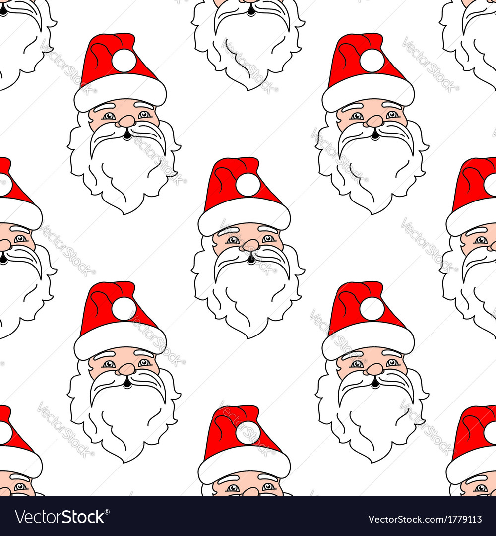Santa claus seamless pattern background vector | Price: 1 Credit (USD $1)