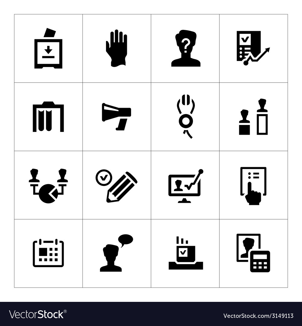 Set icons of elections vector | Price: 1 Credit (USD $1)