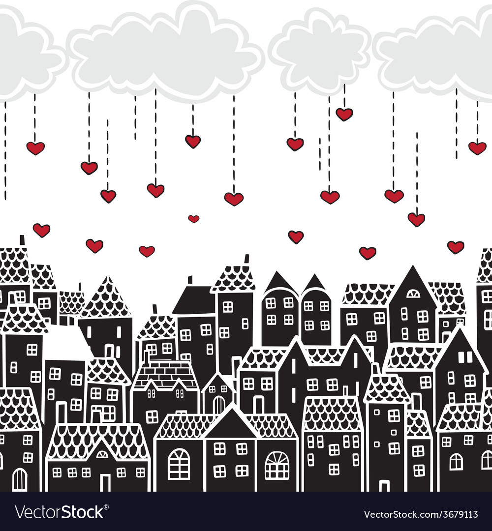 Valentines day in the city vector | Price: 1 Credit (USD $1)