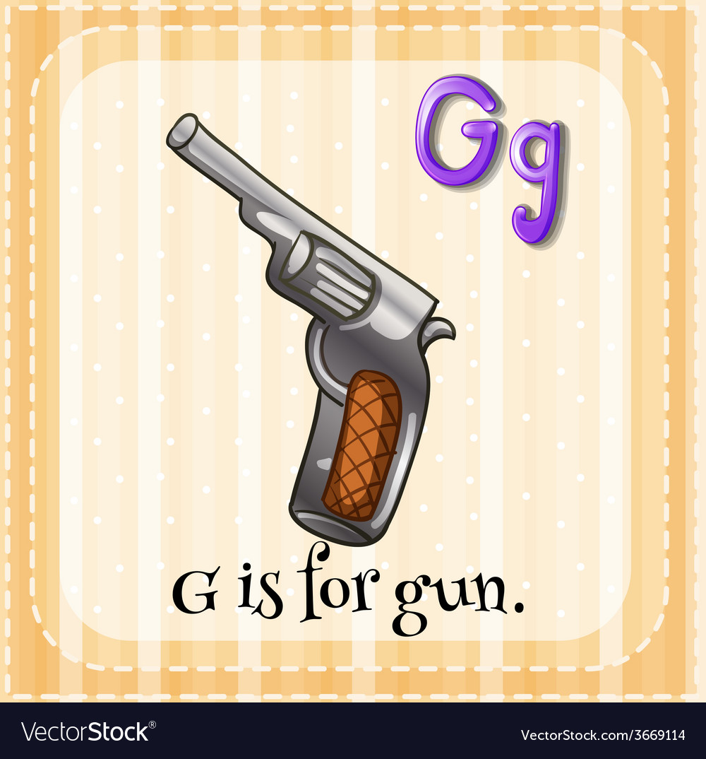 A letter g for gun vector | Price: 3 Credit (USD $3)