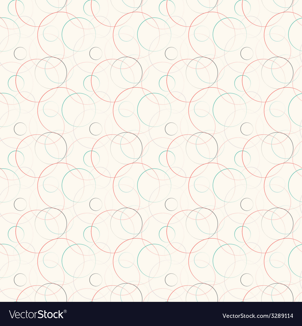 Abstract geometric line and round seamless pattern vector | Price: 1 Credit (USD $1)