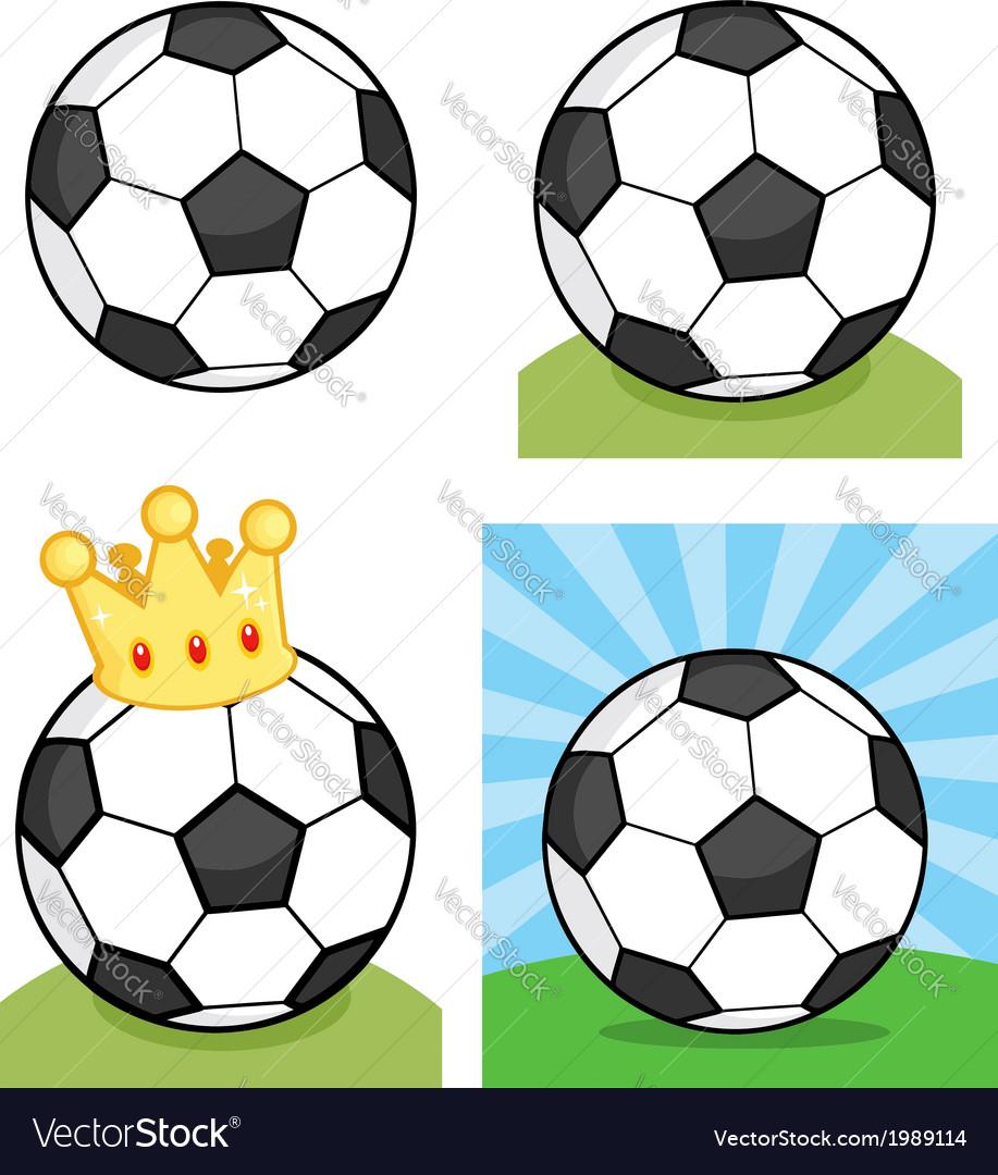 Cartoon soccerball vector | Price: 1 Credit (USD $1)