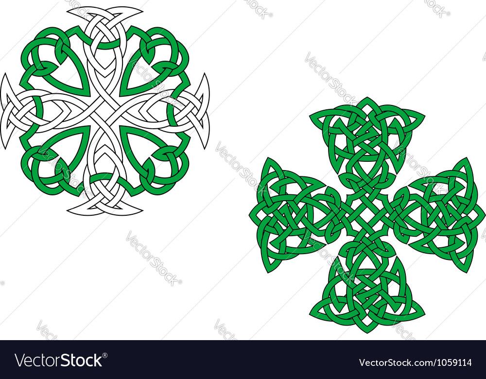 Celtic crosses vector | Price: 1 Credit (USD $1)