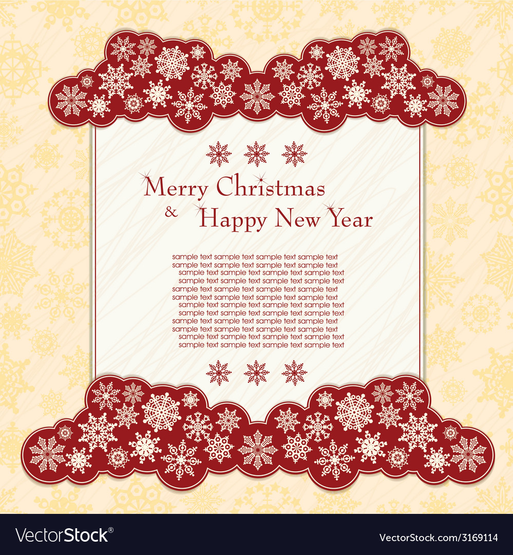 Christmas card with snowflakes vector | Price: 1 Credit (USD $1)