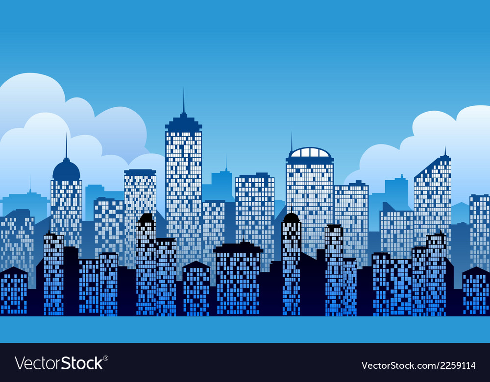 City background vector | Price: 1 Credit (USD $1)