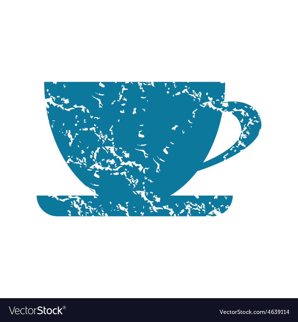 Cup grunge icon vector | Price: 1 Credit (USD $1)