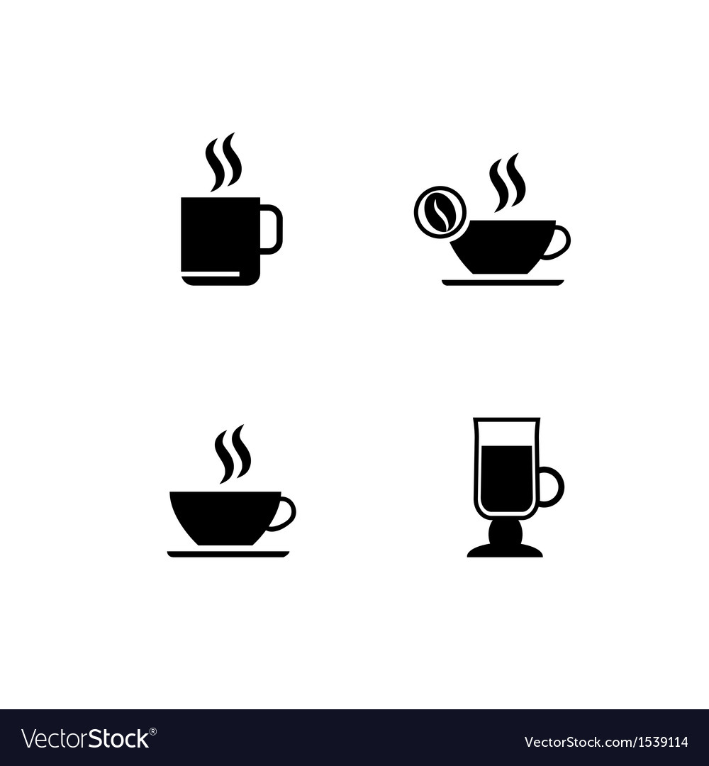 Cup of coffee icons vector | Price: 1 Credit (USD $1)