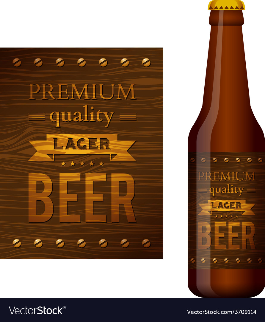 Design of beer label vector | Price: 3 Credit (USD $3)