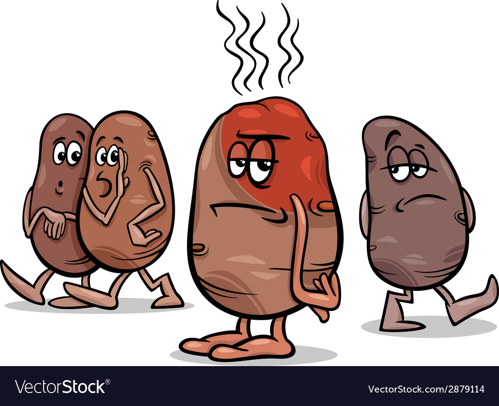 Hot potato saying cartoon vector | Price: 1 Credit (USD $1)
