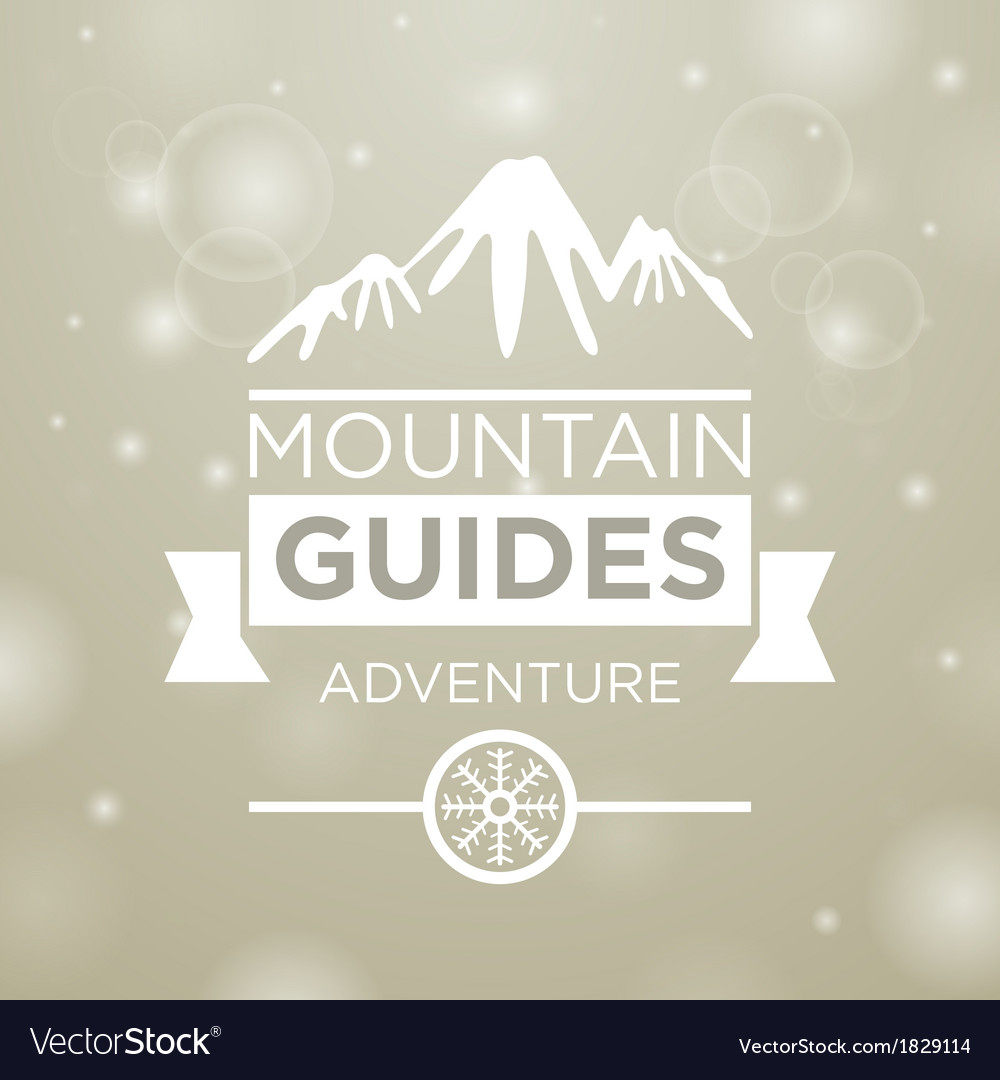 Mountain guides adventure vector | Price: 1 Credit (USD $1)