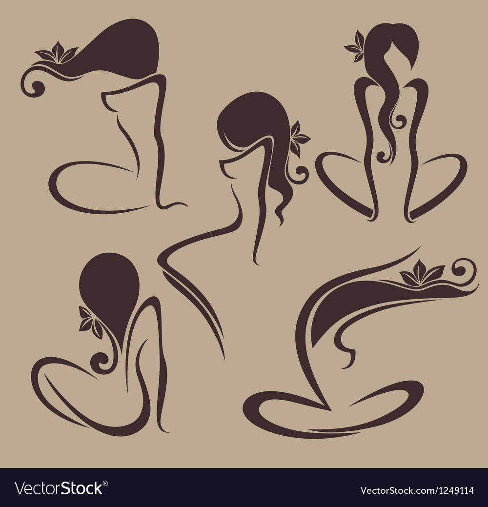 Naked and beauty vector | Price: 1 Credit (USD $1)