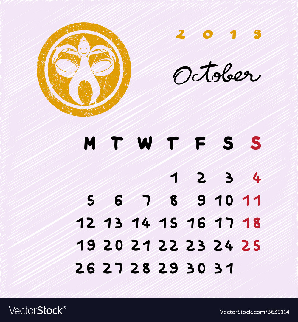 October 2015 zodiac vector | Price: 1 Credit (USD $1)