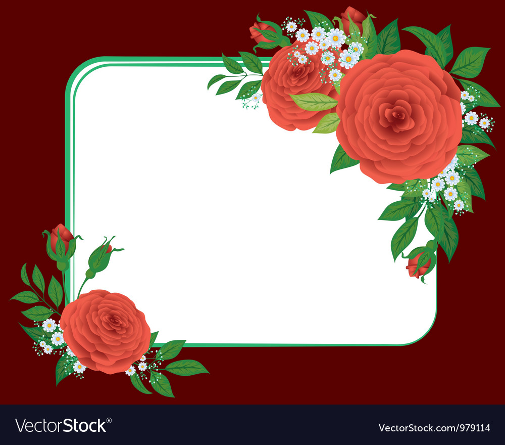 Red roses the vignette vector | Price: 1 Credit (USD $1)