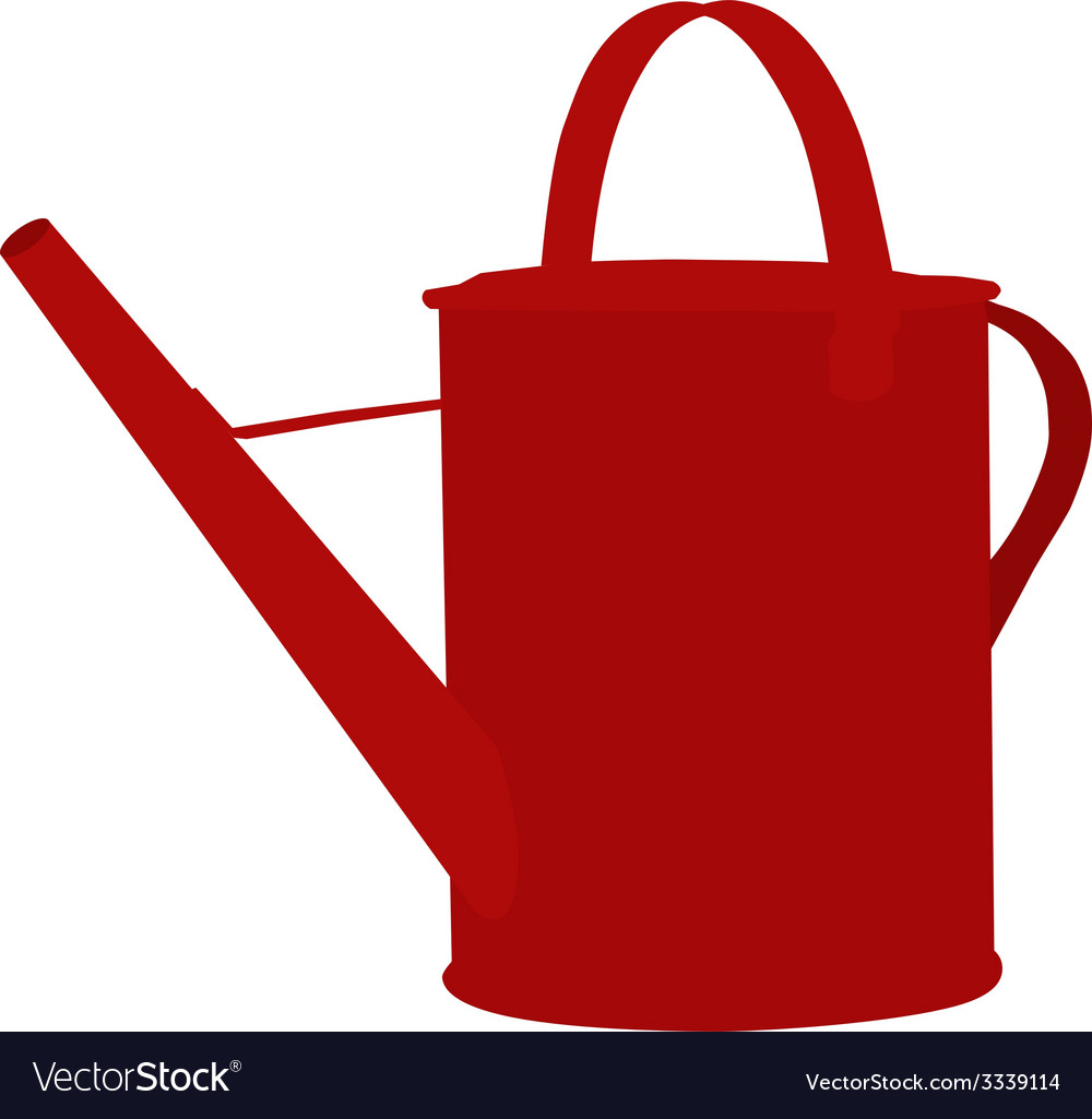 Red watering can vector | Price: 1 Credit (USD $1)