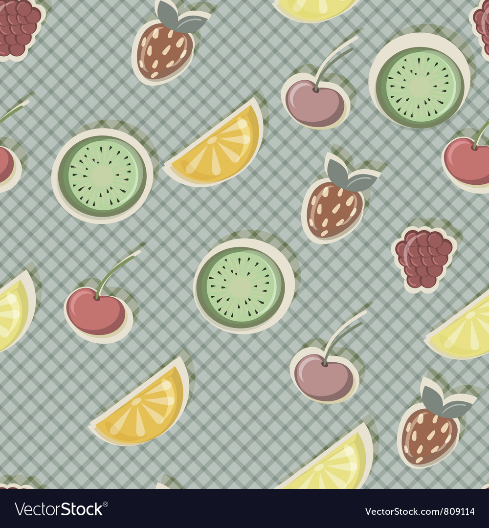 Seamless fruits vector | Price: 1 Credit (USD $1)