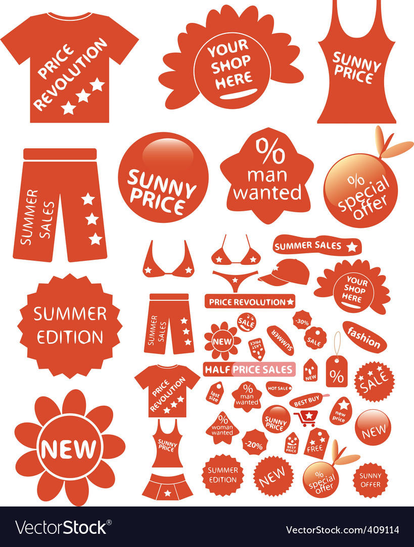Shop stickers vector | Price: 1 Credit (USD $1)
