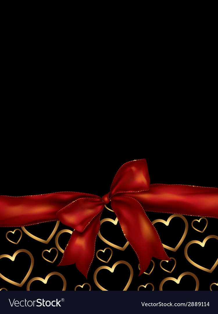 Valentines day background with bow vector | Price: 1 Credit (USD $1)