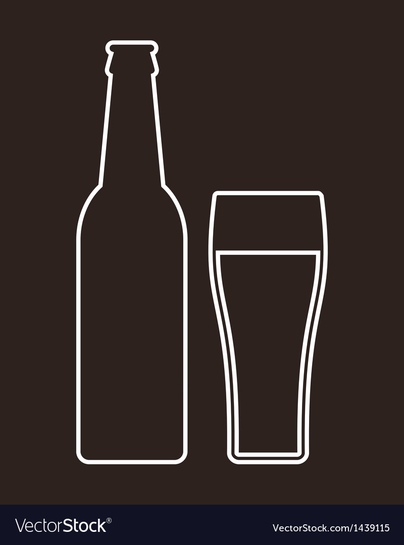 Bottle and glass of beer vector | Price: 1 Credit (USD $1)