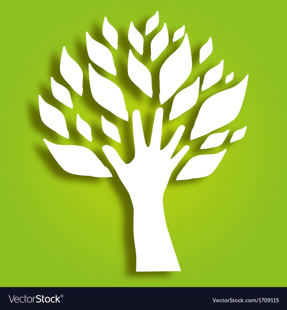 Decorative hand tree vector | Price: 1 Credit (USD $1)