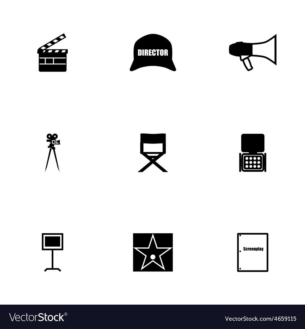 Filming icon set vector | Price: 1 Credit (USD $1)