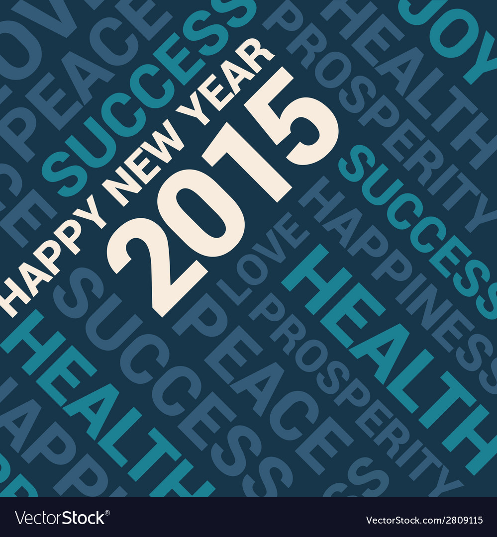 Happy new year 2015 card word cloud background vector | Price: 1 Credit (USD $1)