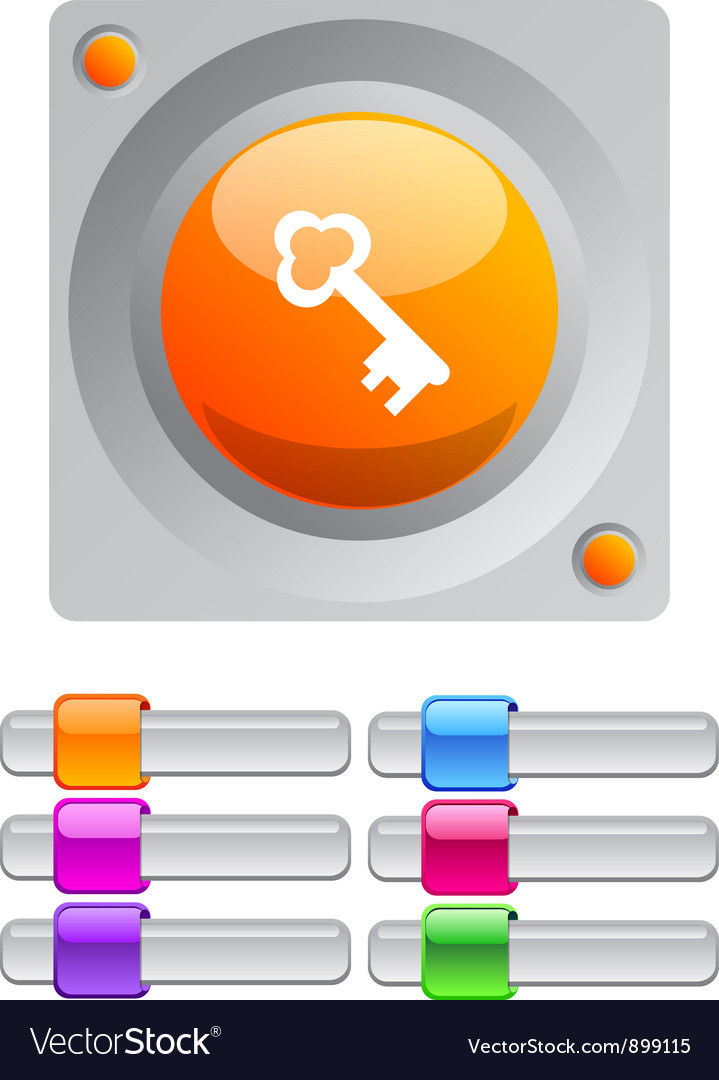 Key color round button vector | Price: 1 Credit (USD $1)