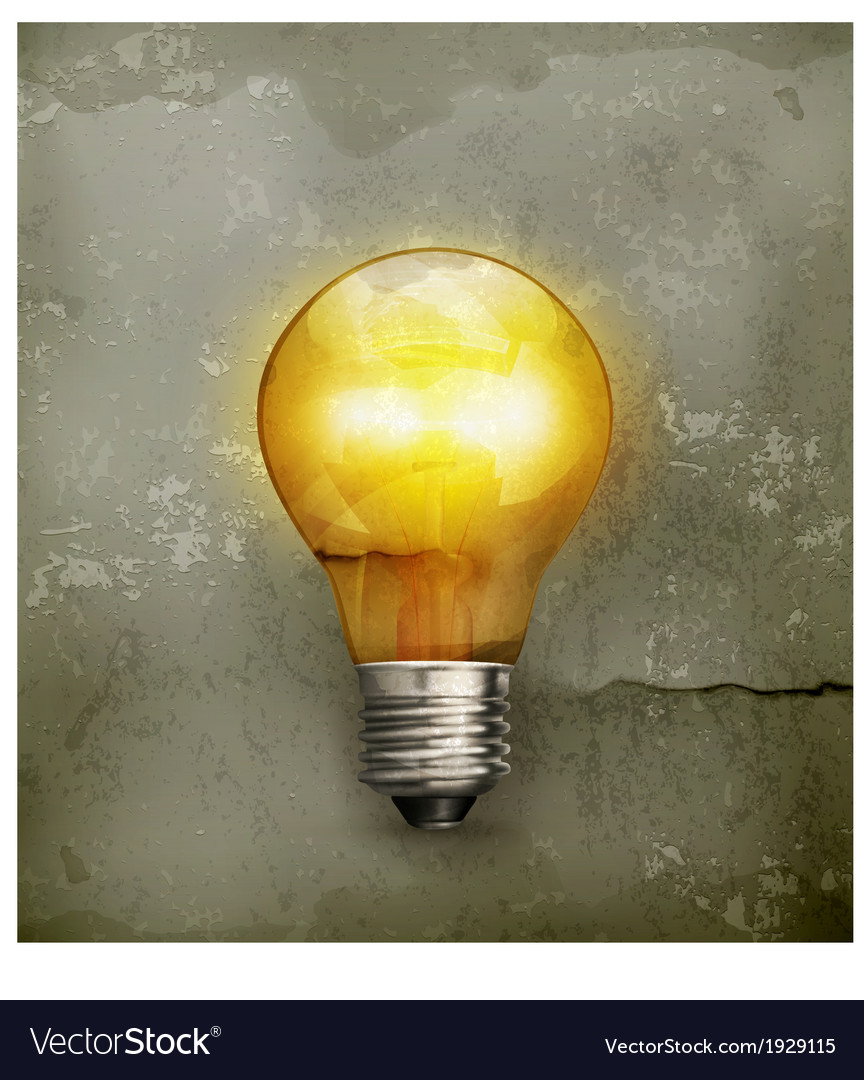 Lightbulb old-style vector | Price: 1 Credit (USD $1)