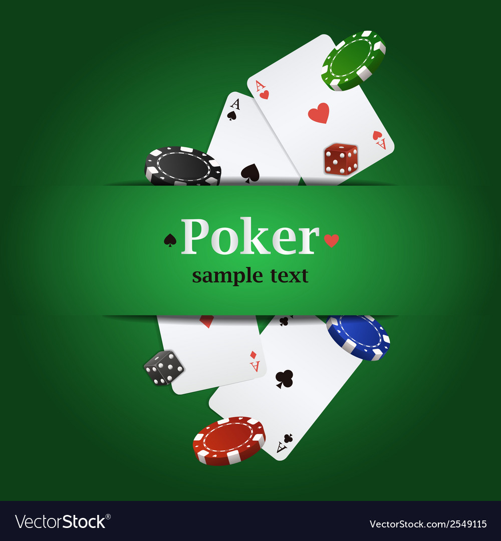 Poker background with playing cards chips and vector | Price: 1 Credit (USD $1)