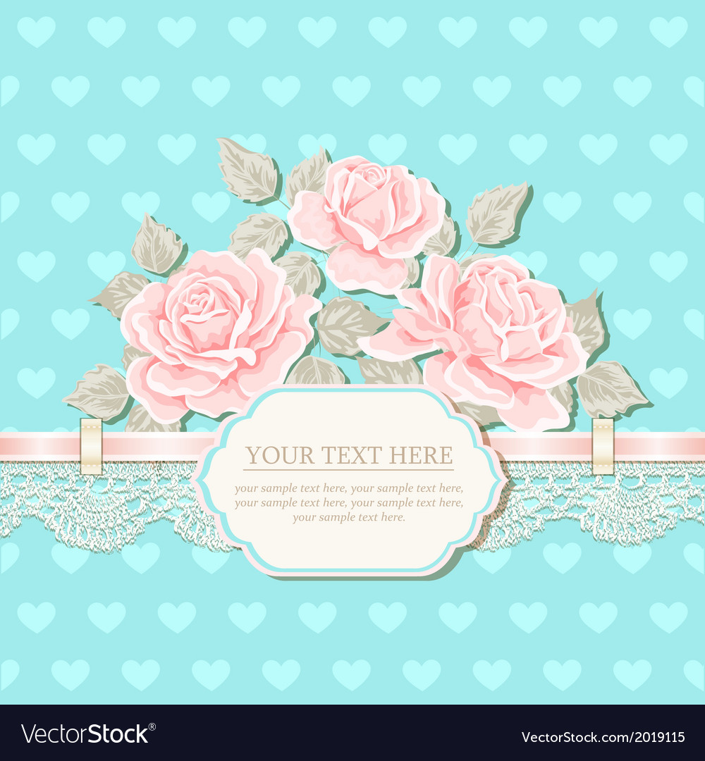 Vintage background with roses vector   Price: 1 Credit (USD $1)
